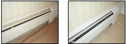 How Many Of You Have Baseboard Heaters In Your Bathroom That Look Like The  One On The Left Above? Itu0027s An Easy Fix! You Donu0027t Have To Replace Them!